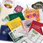 Салфетки с логотипом: особенности их производства