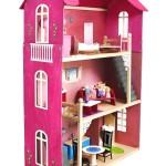 Трехэтажный игрушечный домик «Вдохновение» из дерева