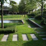 Дизайн двора частного дома: фото примеры и советы по обустройству